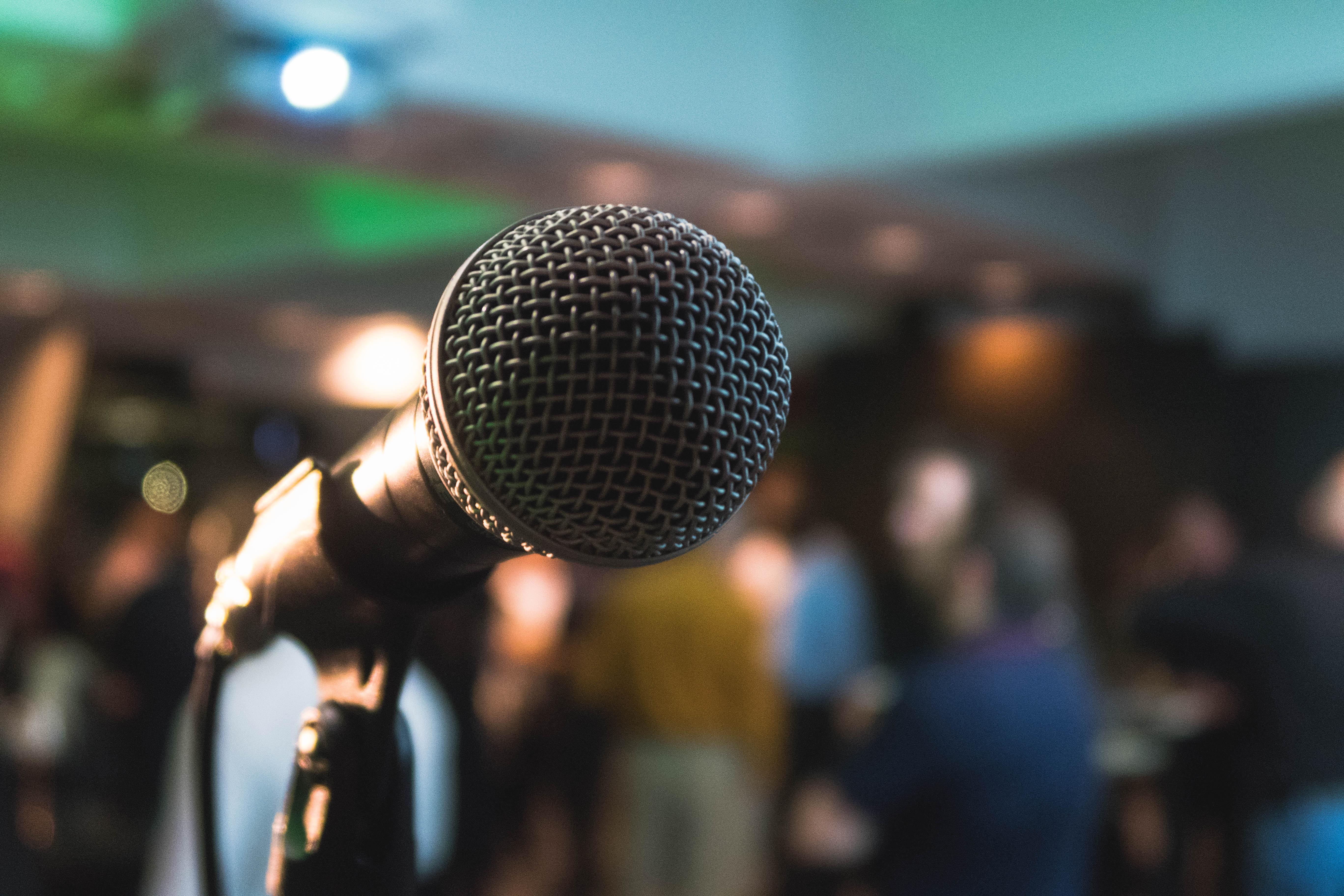 Mikrofon bei einem Vortrag